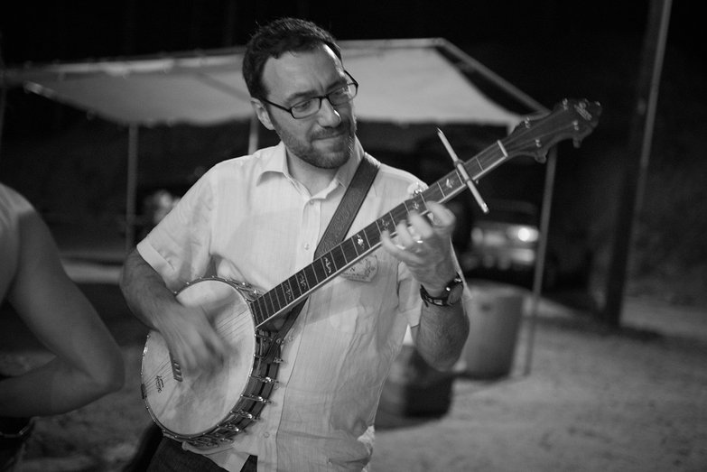 Gianluca Playing Banjo
