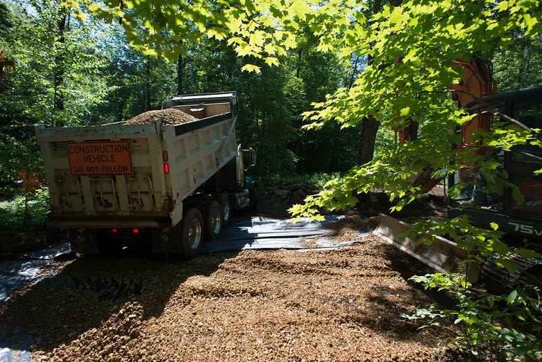 Richard Dumping Driveway Stone
