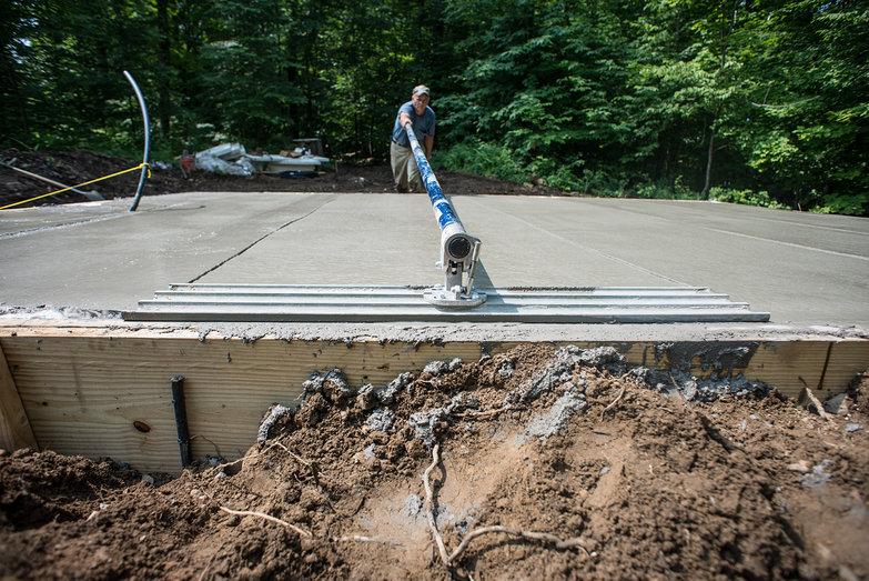 Concrete Slab Troweling