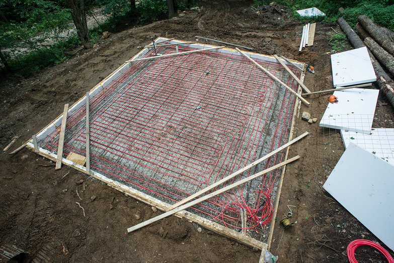 Workshop Concrete Slab Aerial View