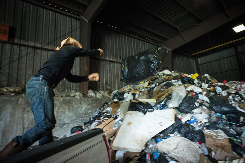 Tyler Hurling Trash into the Arlington Dump