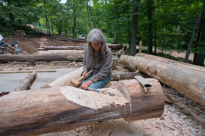 Deanne Chiseling Grindbygg Tie Beam Joint