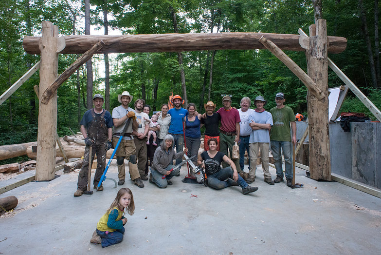 Going Slowly Grindbygg Timberframing Class 2013 Group Photo