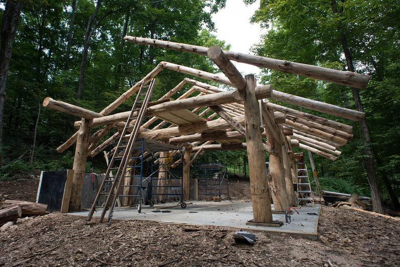 Grindbygg Timber Frame Workshop in Progress