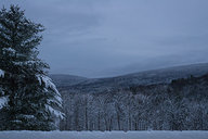 Snowy Vermont View At Dusk