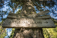 Castle Lake Trail Sign