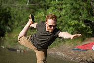 Tyler Doing Lake Yoga