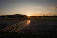 Sunset at Bennington Airport