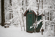 Snowy Outhouse