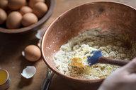 Mixing Batter for Orange & Anise Olive Oil Cake
