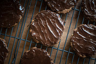 Chocolate Covered Low Carb Hob Nob Cookies