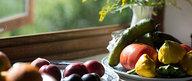 Vegetables in Kitchen Window Sill